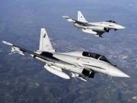台风 Typhoon 战斗机双机飞行