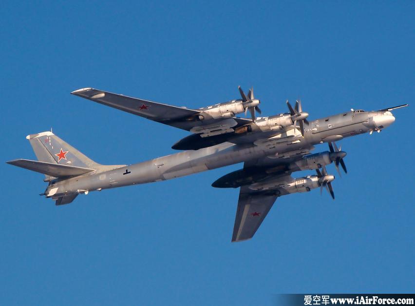 图-95(Tu-95)远程战略轰炸机侵犯日本领空